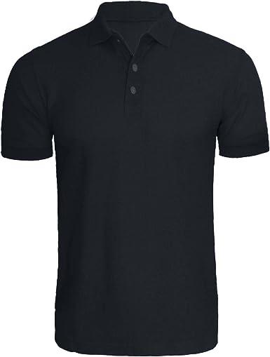 xpaccessories Camisa de polo en blanco liso de manga corta piqué superior para hombre casual regular verano camiseta deportes golf camisas