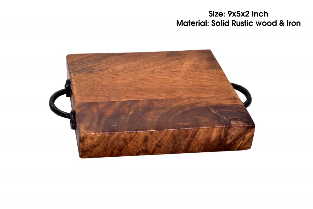 Simple Design Rustic Wood Cheese Board l Serving Tray l Trays by Mumukshu Interio