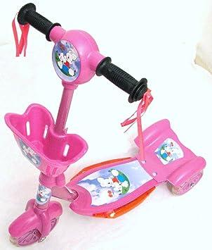 Roller - Patinete (3 ruedas, con cesta, luz y música), color ...