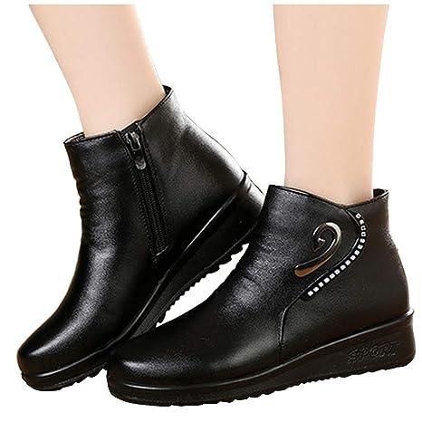 Posional Botas de Mujer Botas Retro Navidad Boots Tooling para Hombre Botas British Student Casual Boots Botas De Invierno con Cordones Y Tacón Alto