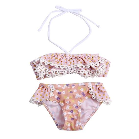 187627779b439 Chinatera Baby Girl's Two Piece Bra and Underpants Bikini Swimsuits Bathing  Beach Sweet Swimwear Set 1