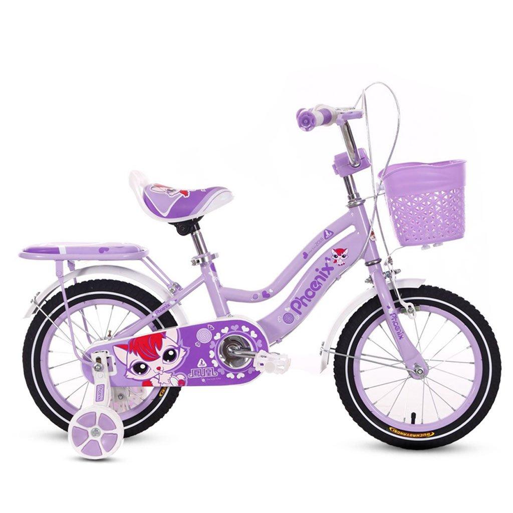 子供用自転車3-5-6歳のベビーベビーカー14/16/18インチガール自転車キッズバイクパープル ( Size : 14 inches )   B07DR9C1TT