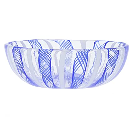 Amazon Glassofvenice Murano Glass Filigrana Candy Dish Home