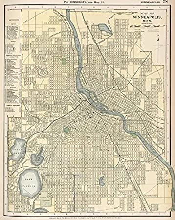 Amazon.com: Imagekind Wall Art Print Entitled Vintage Map of ...