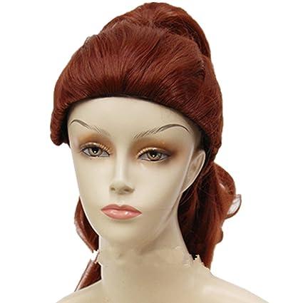 Niña de animación de la princesa Bell Cenicienta, melena larga Halloween Cosplay peluca – Rubio