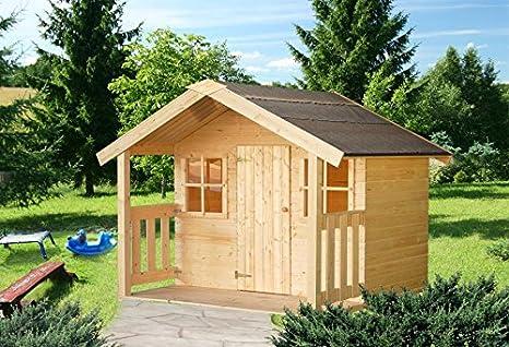 Box - Caseta de jardín para niños, madera de abeto de 16 mm, 1,9 m² , 112 x 180 cm: Amazon.es: Hogar