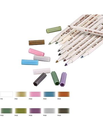 Marcadores Metalizados de Meloive,Bolígrafos de Cristal, Set Específico de 10 Colores para Dibujar