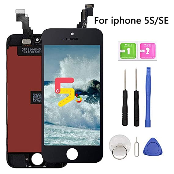 c6ef9bbce8637e Image Unavailable. Image not available for. Color  Screen Replacement for iPhone  5s-SE Black LCD ...