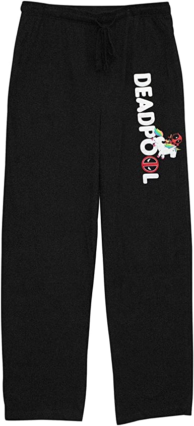 Mens Womens NEW Deadpool Gray Pajama Lounge Pants Red// Black Lettering S-2XL