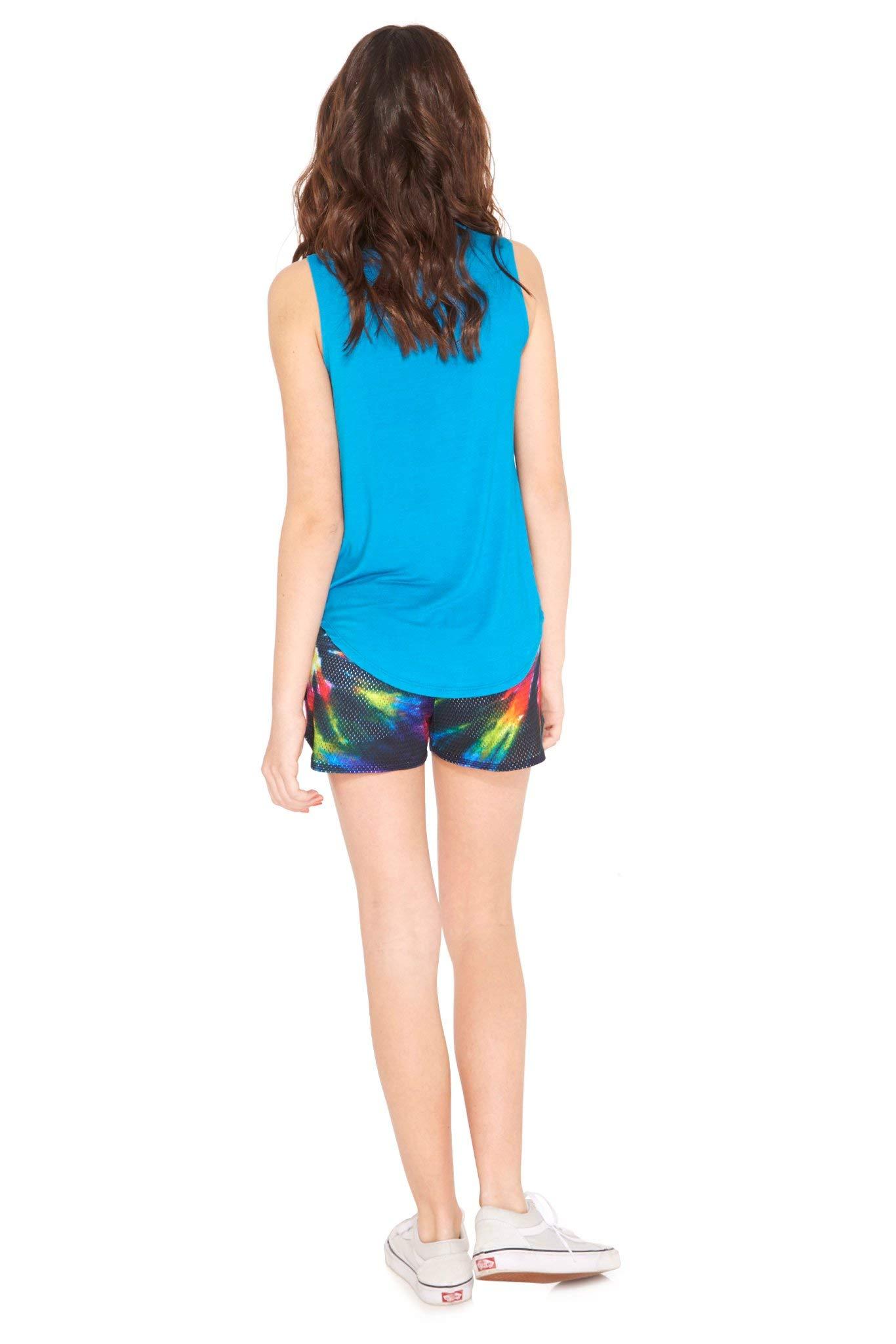Terez Girls Classic Mesh Shorts (Tie Dye, 4 - Small) by Terez (Image #3)