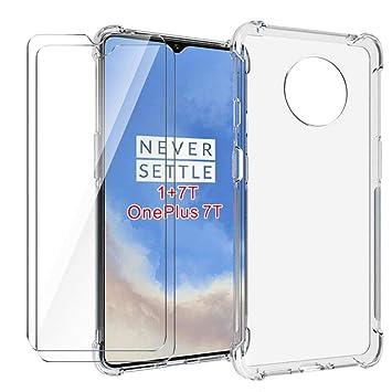 HYMY Funda para Oneplus 7T Smartphone + 2 x Cristal Templado ...