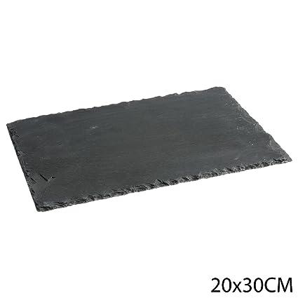 Plato de pizarra, 20 x 30 cm.: Amazon.es: Hogar