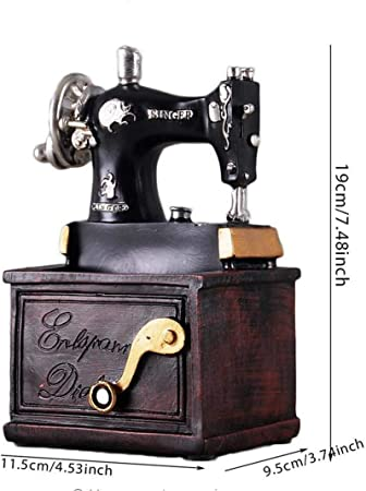 qnmbdgm Máquina de Coser de Resina de la Vendimia Titular de La ...