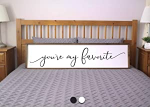 bawansign Youre My Favorite Sign for Bedroom Farmhouse Sign Love Framed Sign Farmhouse Bedroom Rustic Wall Decor Sign for Above Bed
