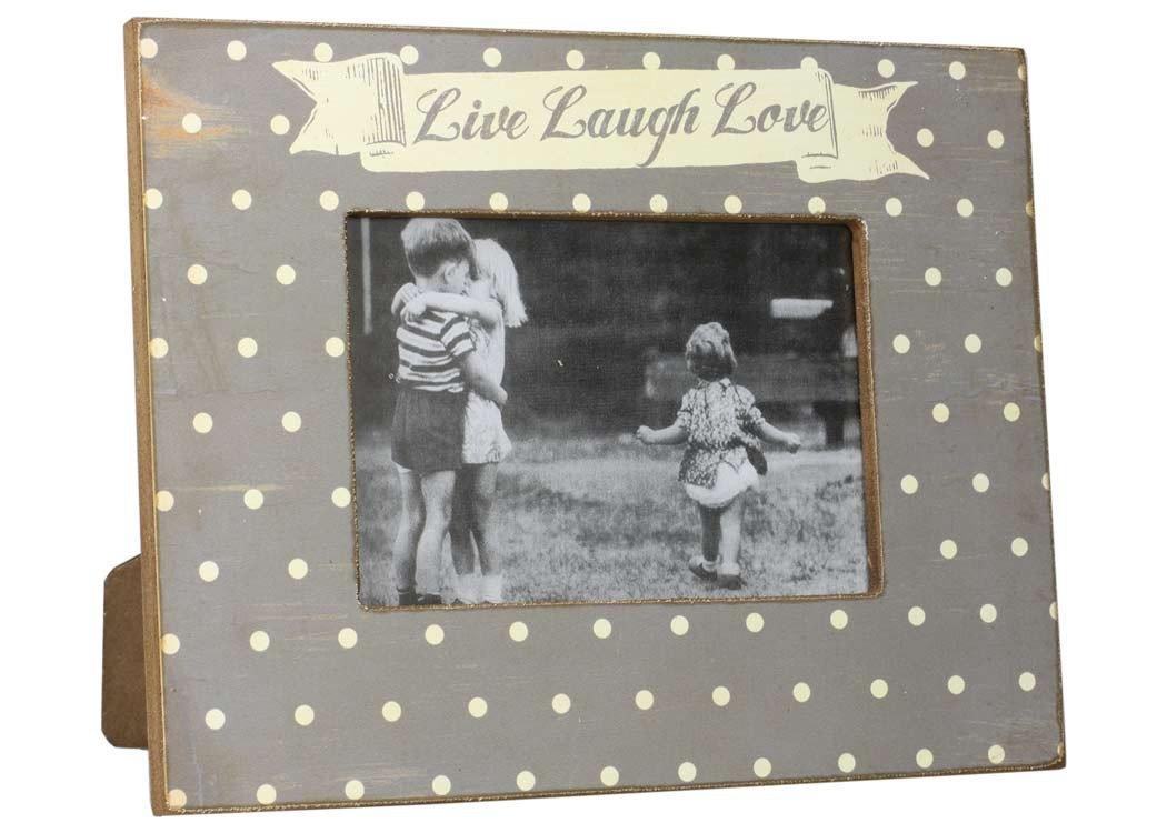 Amazon.de: condecoro Vintage Bilderrahmen Live - Laugh - Love Shabby ...