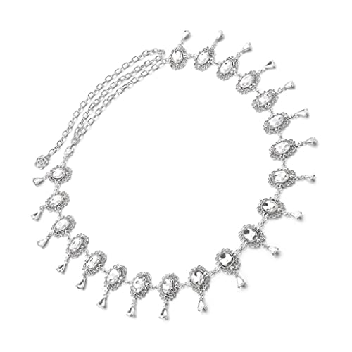 e7d114bbbb3fae MagiDeal Damen Metall gürtel Kleidgürtel Taillengürtel Hüftgurt Strass -  Farbe1 110CM