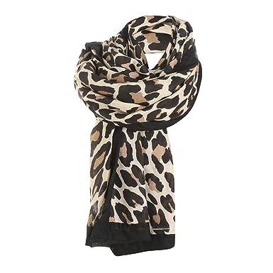 ece811ddd9b8a ZYUEER Echarpe Leopard Foulard Leopard ChâLe Hiver Femme Grande Foulard  Blanc Gris Kaki Marron Pas Cher