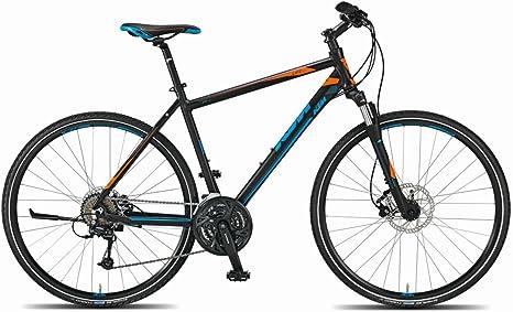 KTM Life Road Hombre bicicleta híbrida, 2015, negro mate naranja ...