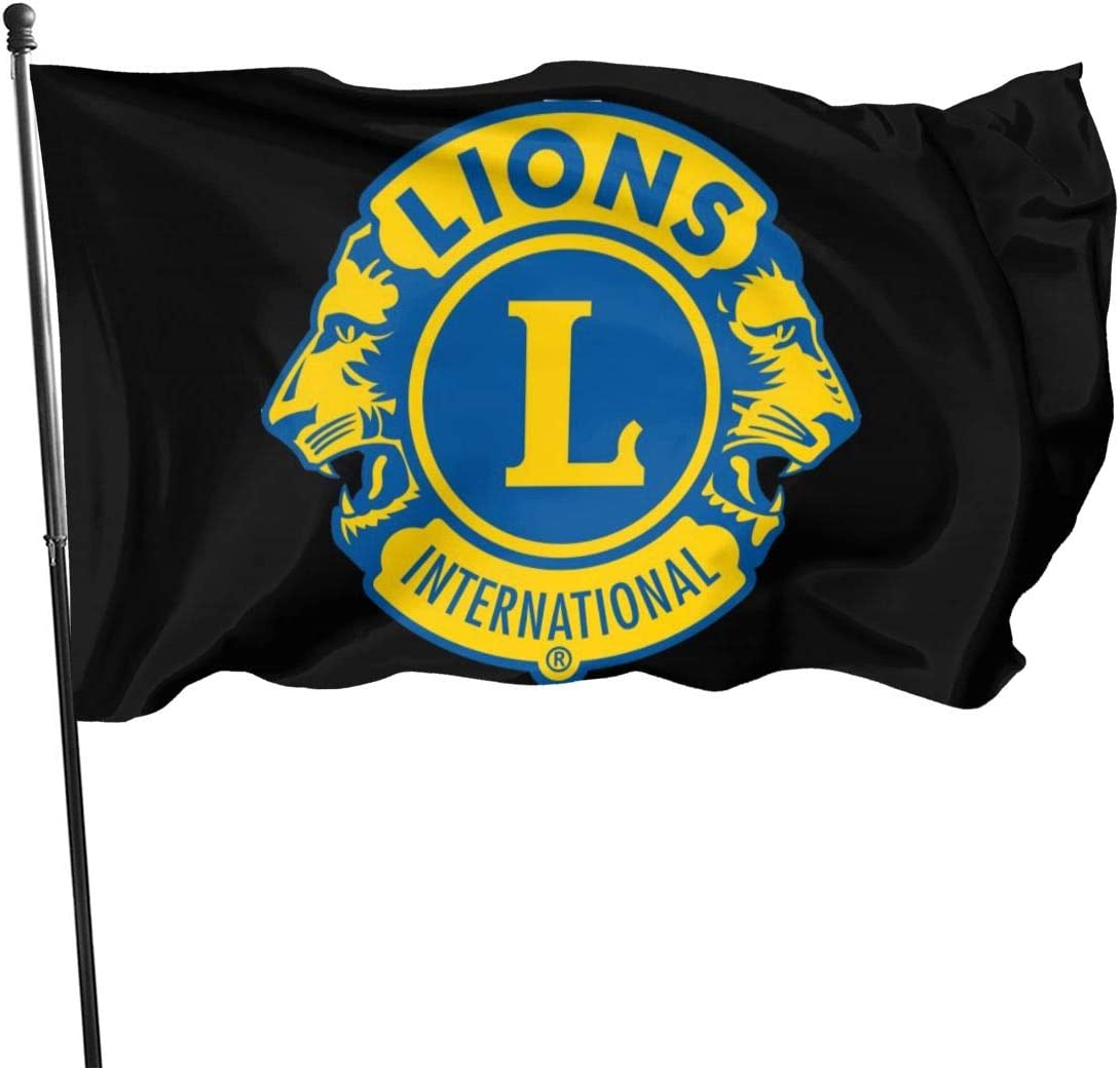Lions Club International Flag 3x5 ft Yard Garden House Flag for Spring Outdoor Indoor Decoration