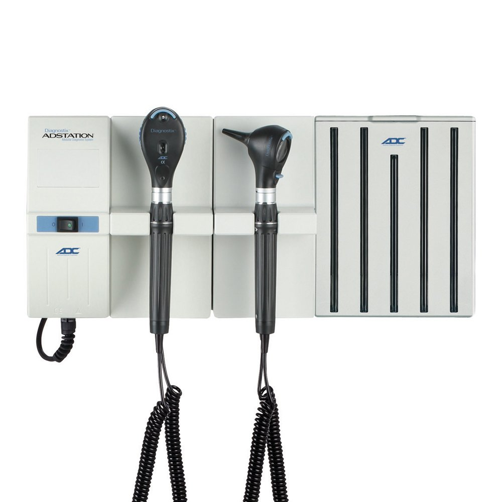 ADC Diagnostic Wall Set with 3.5V LED Otoscope, 3.5V LED Coax Ophthalmoscope, and Specula Dispenser by ADC (Image #1)