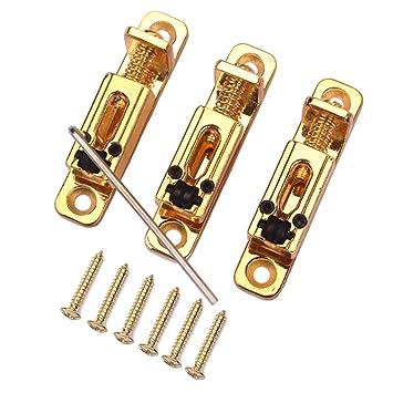 MagiDeal Puente Tremolo Roller Saddle para Strat Telecaster ST TL Cigar Caja de 6 Cuerdas de