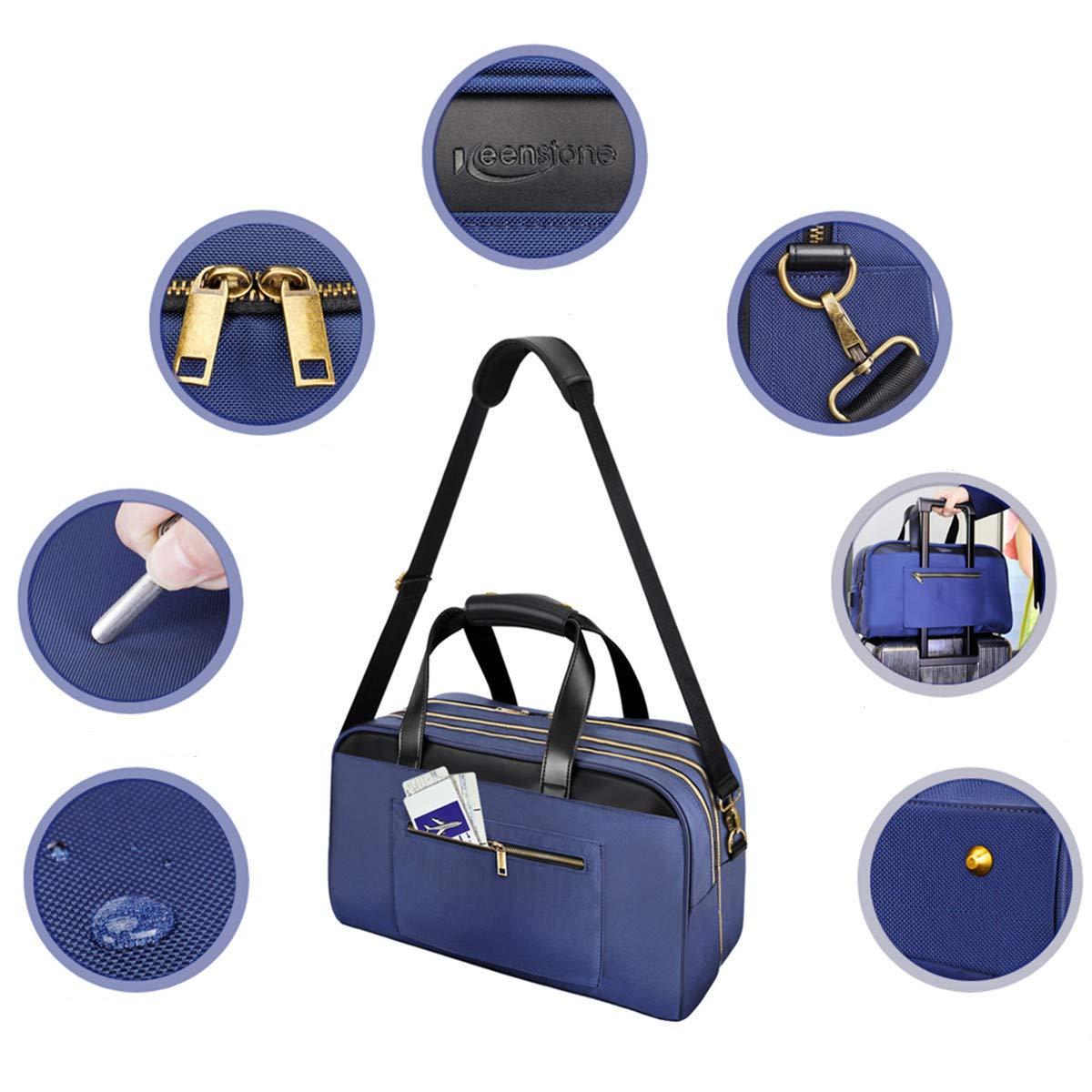 Keenstone Bolsa de viaje 35L a prueba de agua con USB bolsa de negocios viajero de viajes escolares viaje de negocios compatible con PC (Azul)