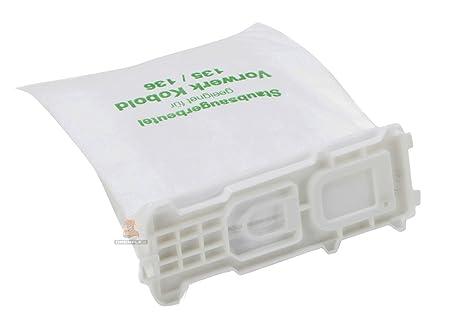 DREHFLEX® - 18 Staubsaugerbeutel aus Vlies passend für Vorwerk - Kobold 135/136 / 135SC / VK135 / VK136 - DREHFLEX®