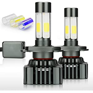 Zdatt 12000LM Super Bright 100W H4 LED Headlight Bulbs Conversion Kit 360 Degree HB2 9003 High