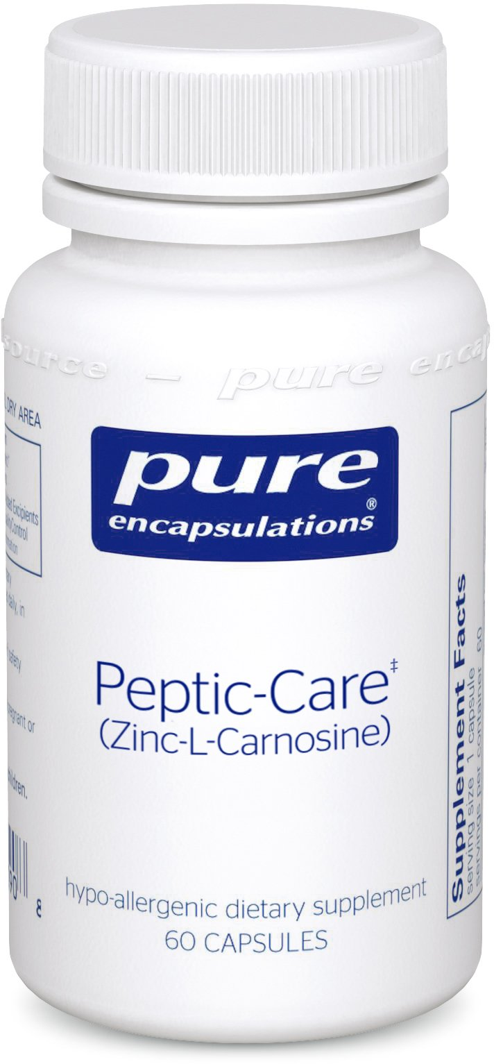 Pure Encapsulations - Peptic-Care (Zinc-L-Carnosine) - Hypoallergenic Supplement Provides Antioxidant Support for Overall Gastric Health and Comfort* - 60 Capsules