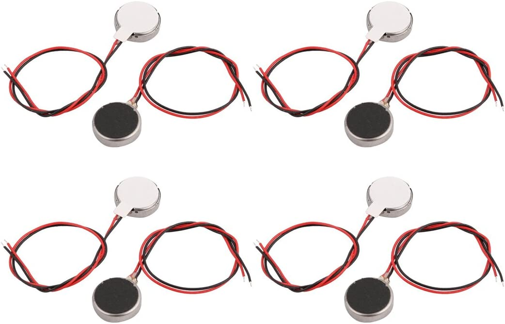 8Pcs DC 3V 12000RPM 10mm x 2.7mm Coin Micro Vibration Motor for Cell Phone