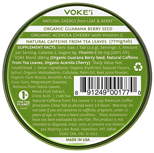 Voke-Tab-Vitalizing-Mental-Focus-Energy-for-Active-Pursuits-Everyday-Productivity-Organic-Guarana-Natural-Green-Tea-Caffeine-Organic-Acerola-Cherry-Beet-Powder-100-Vitamin-C-4-tin-box
