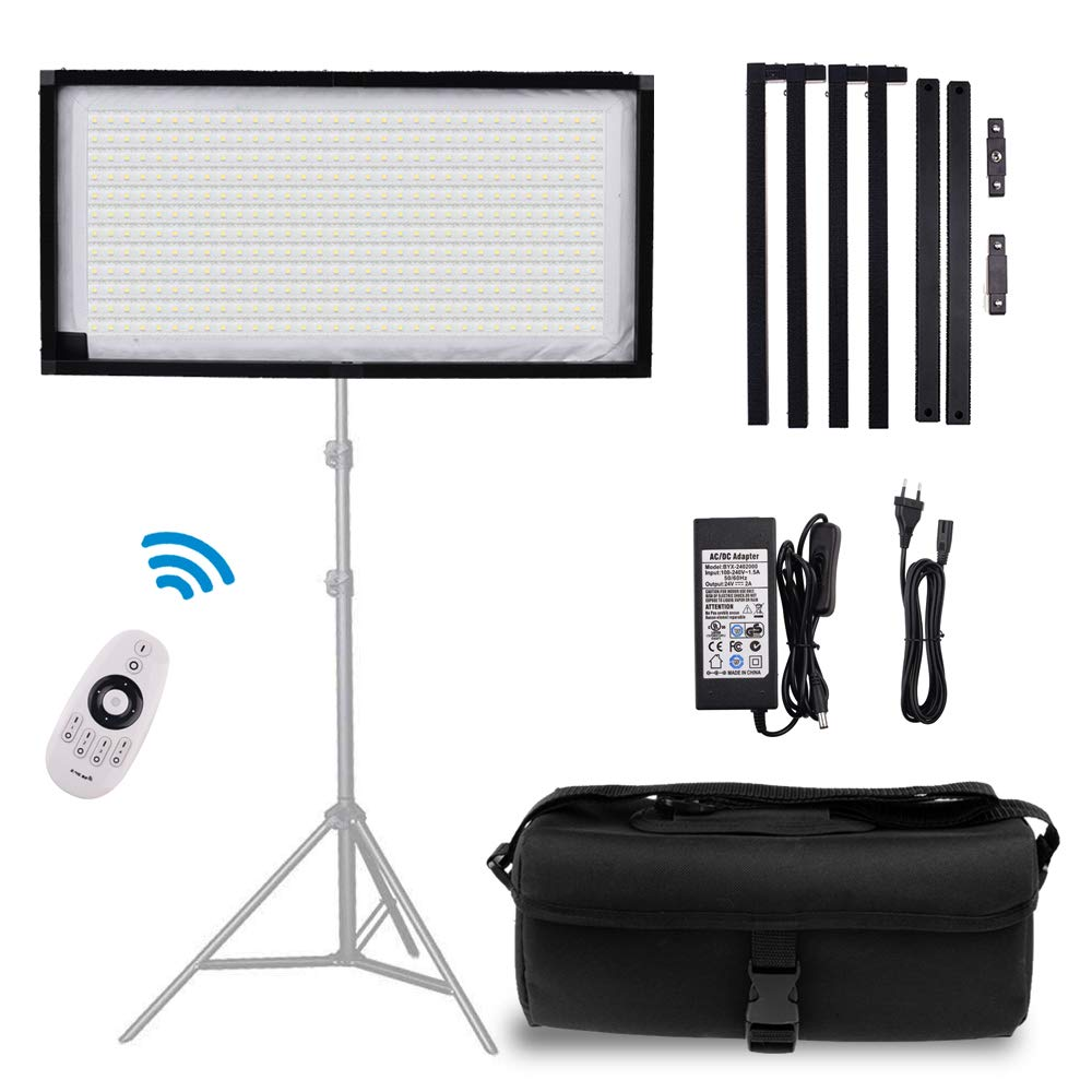 FOSITAN FL-1x2 2nd Gen Portable Rollable 30x60cm Flexible LED Light Panel Mat on Fabric Daylight 5000K 48W 8000LM 384 SMD LED 90 CRI+ for Traveling filmmakers Videographers Photography Shooting by FOSITAN