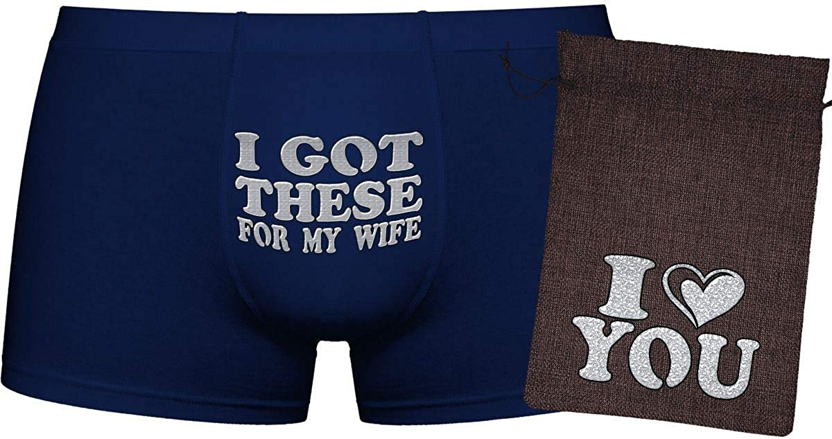 I got These for My Wife Novelty Item. | Innovative Gift Birthday Present | Cool Boxer Briefs