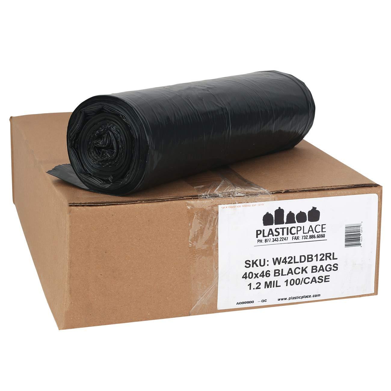 Amazon.com: 40 – 45 Galón bolsas de basura rollos 1,2 mil ...