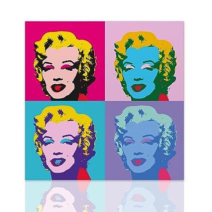 Quadro Marilyn Monroe stile Andy Warhol design tela Pop Art Telaio ...