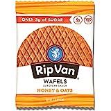 Rip Van Wafels Honey and Oats Stroopwafels - Healthy Snacks - Non GMO Snack - Keto Friendly - Office Snacks - Low Sugar (3g)