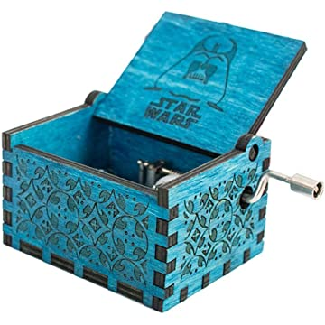 Benlet Retro-Style Wooden Hand-Carved Square Hand Shak Musical Boxes & Figurines