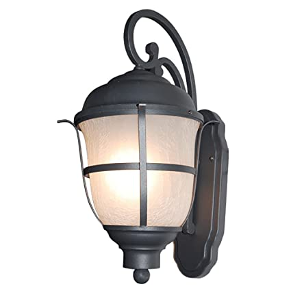 ETOPLIGHTING Greek Collection Exterior Outdoor Lantern Light with Frost  Cracked Glass, Wall Light APL1079
