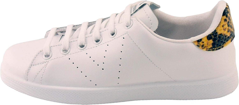 Victoria Tenis Piel/glitter, Baskets Mixte Adulte Platine