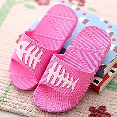 DogHaccd Zapatillas,Hogar de Niños estancia de verano con un fresco zapatillas niños bebés varones y niñas interiores baño baño antideslizante zapatillas ...