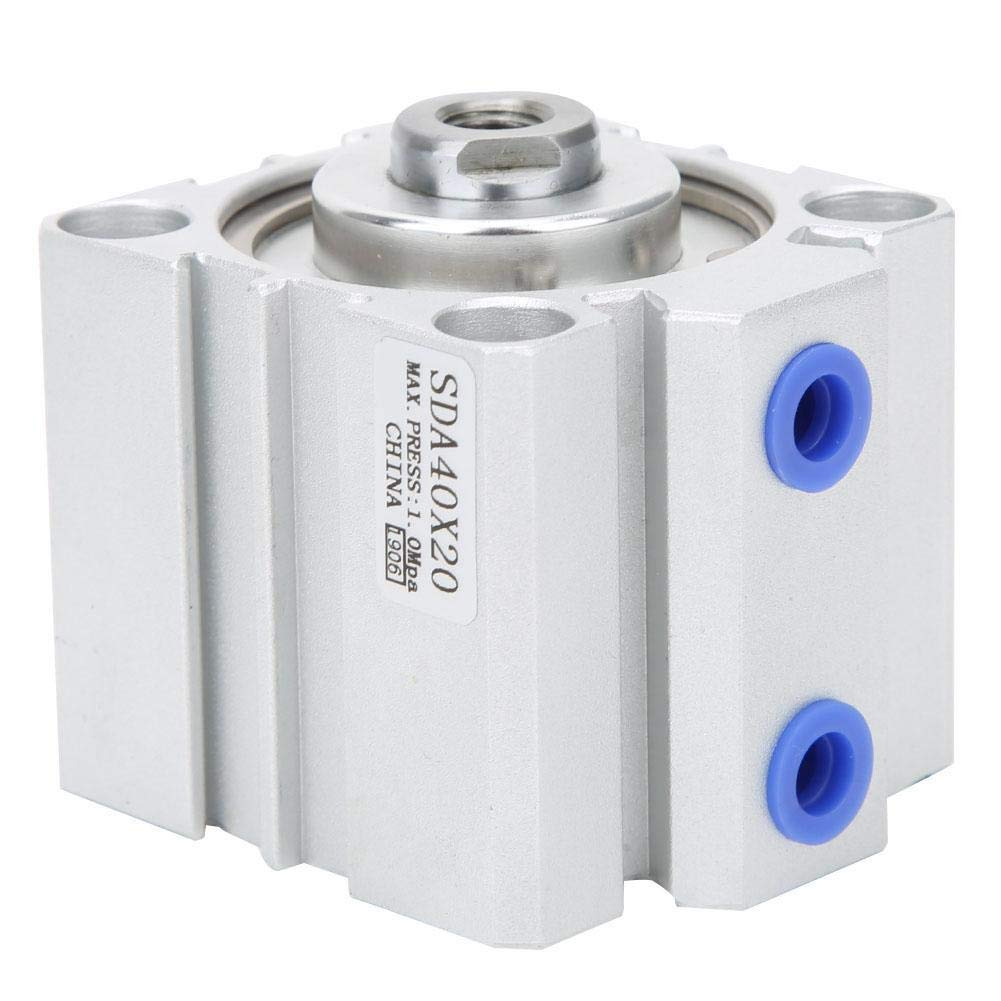 SDA40X20 FTVOGUE SDA 40 Thin Air Cylinder Aluminum Alloy Double Action Pneumatic Components 10//15//20mm