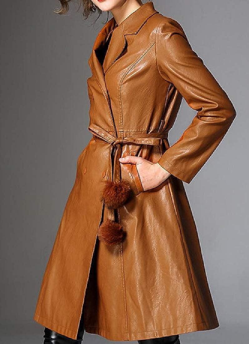 YUNY Women Travel Safari Duster Coat with Pockets XL