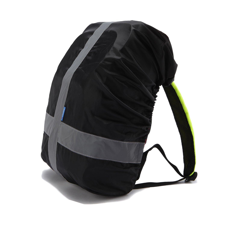 Housse de sac à dos AYKRM réfléchissante à haute visibilité - Résistante - Imperméable Noir Yong Kang Lemmy