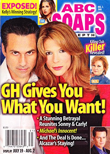 Maurice Benard and Jennifer Bransford (General Hospital), Bree Williamson, Soap Characters Torn Between Two Lovers - August 2, 2005 ABC Soaps in Depth Magazine [SOAP OPERA]
