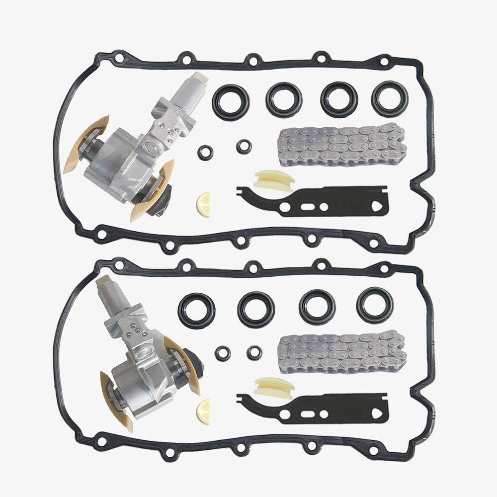 AKWH Pair Timing Chain Tensioner Kits 077109087C For Au di A6 A8 S6 S8 V8 4.2L VW Phaeton Touareg V8 4.2L, 077109087E 077109087P