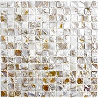 Perlmutt Mosaik Fliesen Fluss Bett Natur Pearl Shell Mosaik