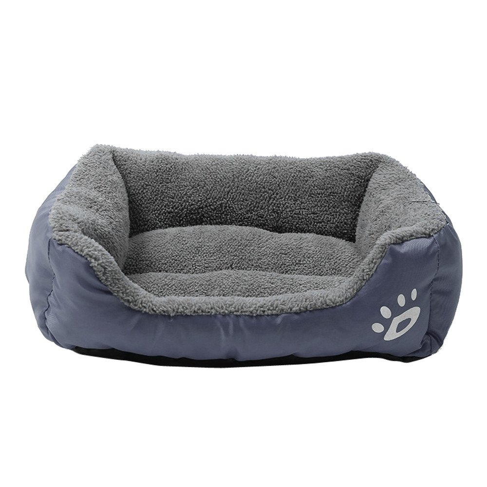 Glumes Rectangle Pet Dog Bed - Soft Lounge Sofa Cuddler, Offers Head, Neck and Joint Support Comfortable Cushion, Waterproof Cover, Anti-Chewing, Square Bed for Dog & Cat