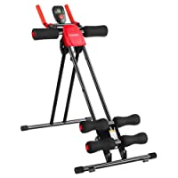 Finether Bauchtrainer Bauchmuskeltrainer Bauchwegtrainer AB Trainer 5-Minutes-Shaper 6 Intensitätsstufen Bauchtraining-Gerät Heimtrainer Fitnessgerät für Bauchmuskeltraining
