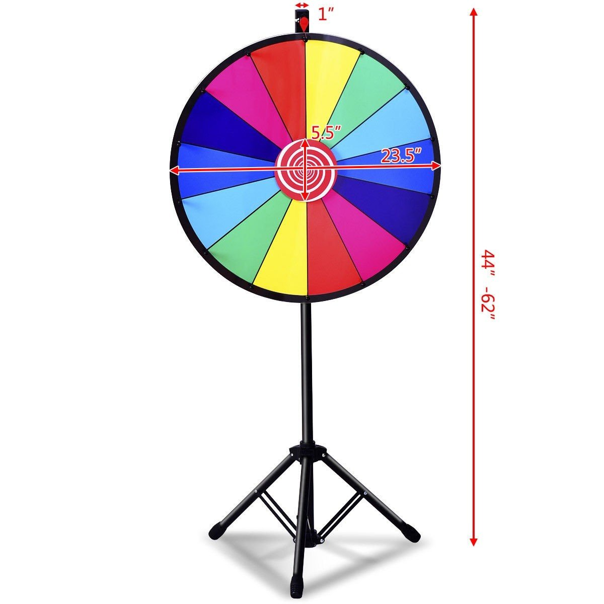 24'' Editable Dry Erase Extension Base Fortune Spinning Game 14 Color Prize Slots BeUniqueToday