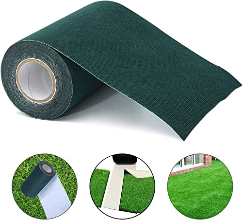 LMHOME Artificial Grass Turf Tape,Lawn Self-Adhesive Seaming Tape for Lawn Mat Rug,Fake Grass Carpet Jointing, 6In-46Ft, Green